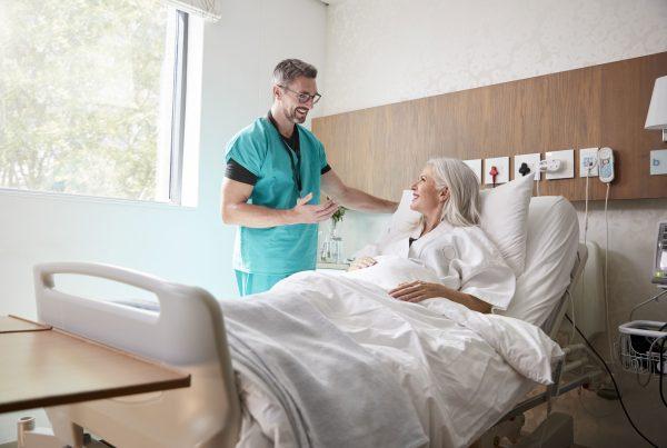 smart ziekenhuis bed oplossing, smart healthcare hacousto protec